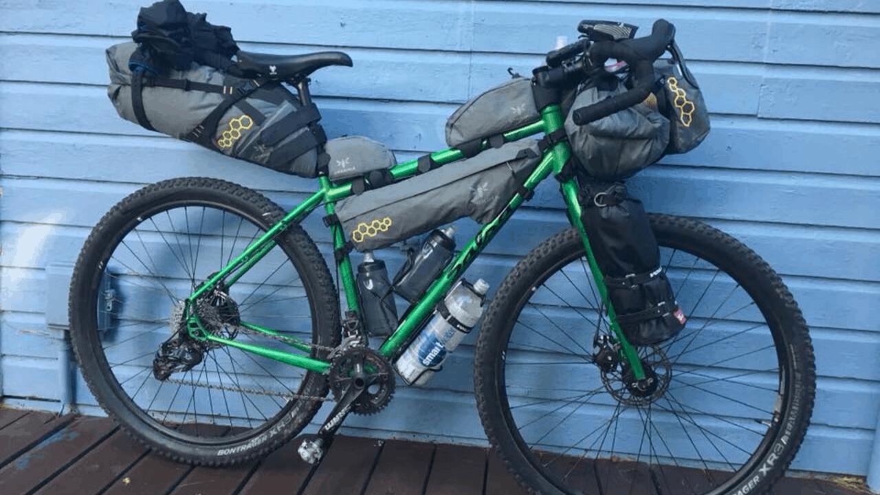 Moosetreks Touring//Road Bike Full Frame BagBikepacking Bicycle Commuting